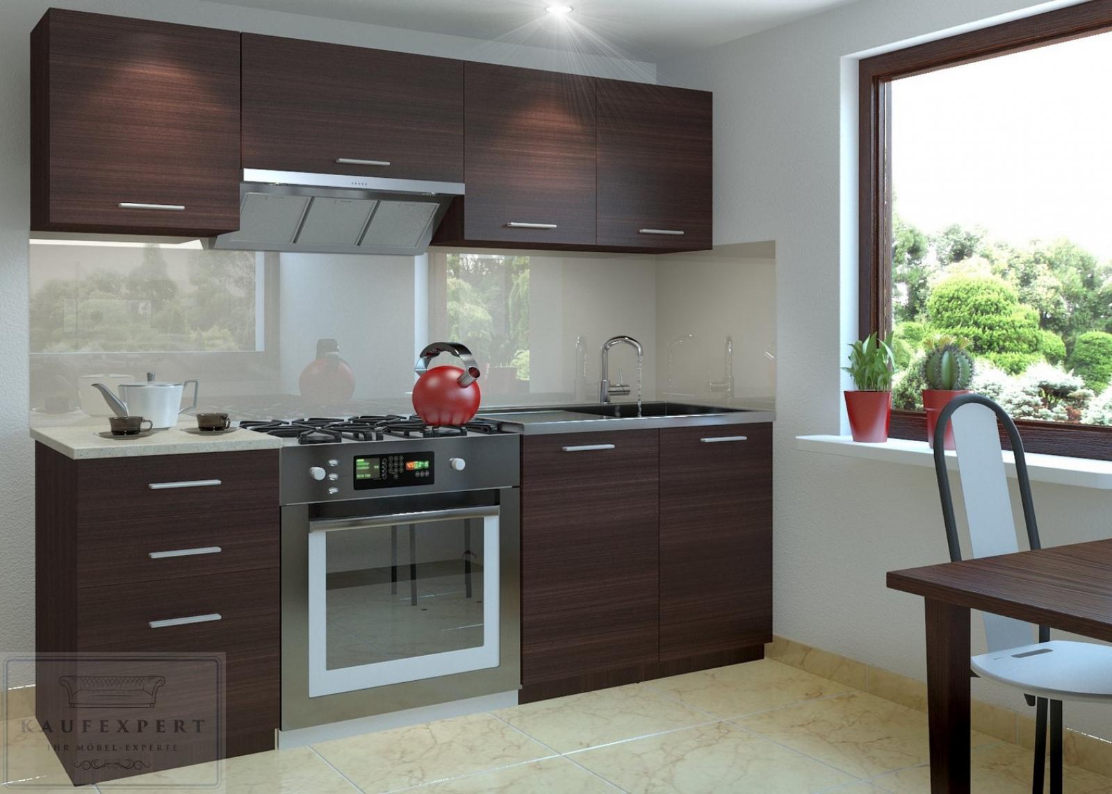 Küchenzeile Moderno E Wenge 180 Cm Küche Küchenblock Arbeitsplatte Modern  Einbauküche Matt Küche