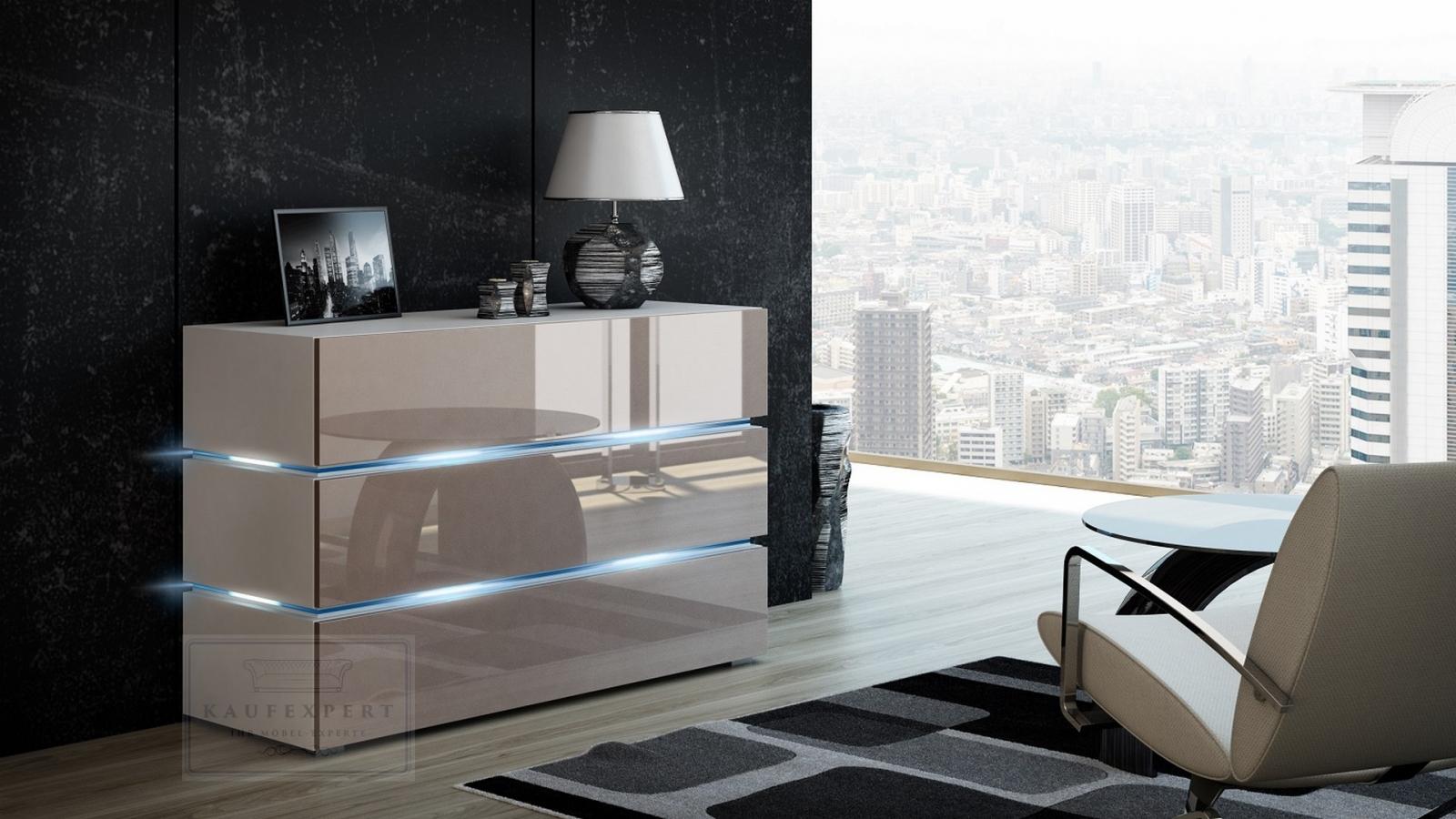kaufexpert garderobe camino wei hochglanz sonoma eiche mit spiegel led beleuchtung garderoben. Black Bedroom Furniture Sets. Home Design Ideas