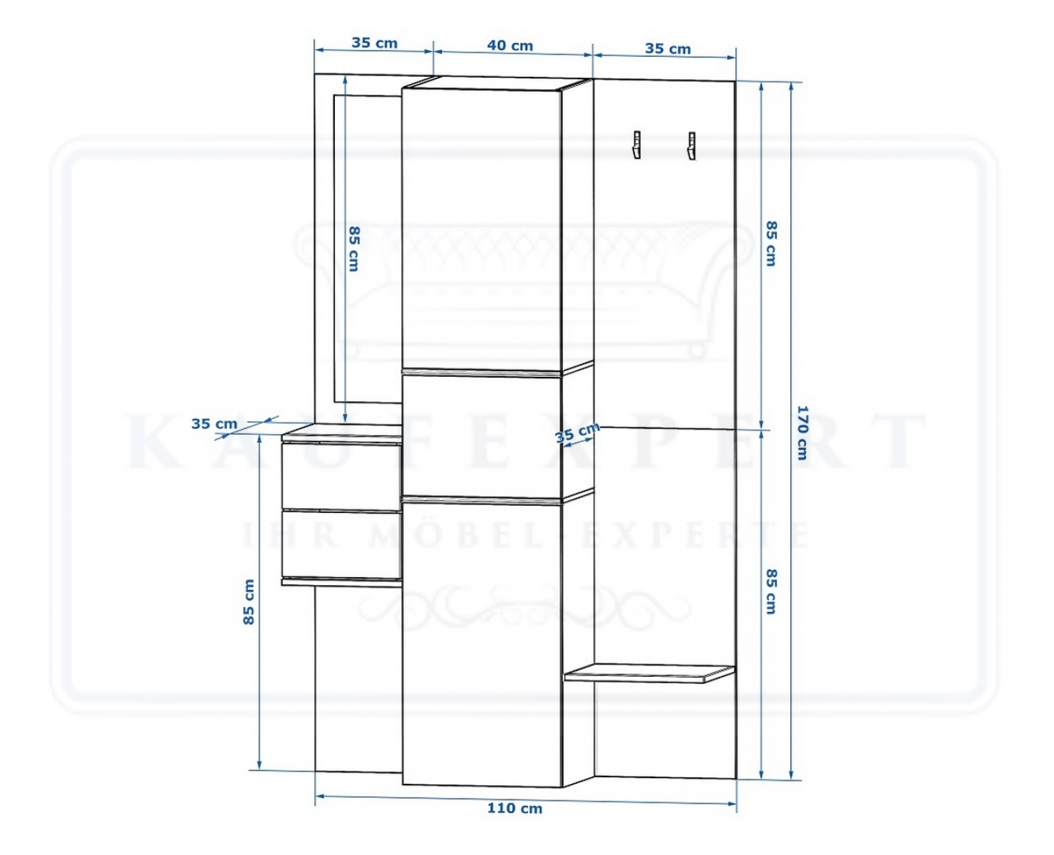 kaufexpert garderobe camino rot hochglanz schwarz mit. Black Bedroom Furniture Sets. Home Design Ideas
