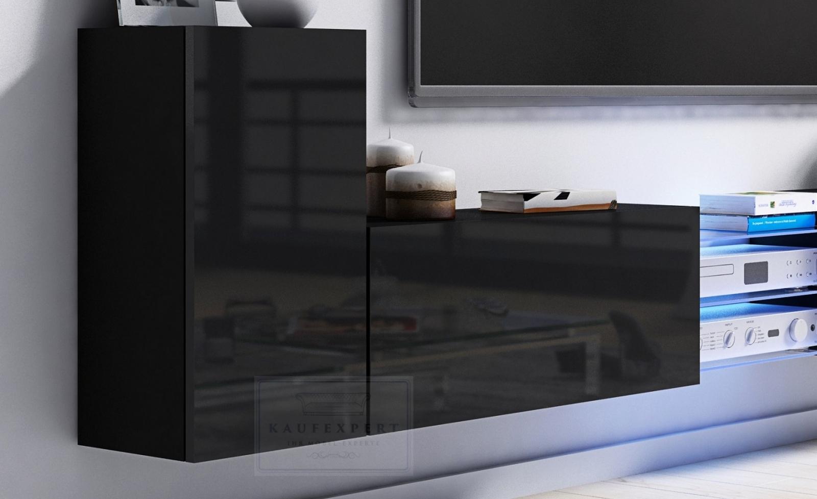 kaufexpert tv lowboard galaxy wei hochglanz sonoma mdf design board hifi tisch beleuchtung. Black Bedroom Furniture Sets. Home Design Ideas