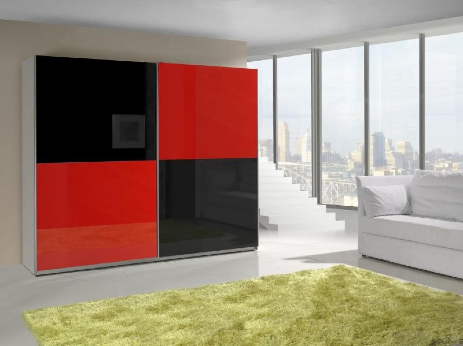 kaufexpert schwebet renschrank 244 cm prestige 16 rot. Black Bedroom Furniture Sets. Home Design Ideas