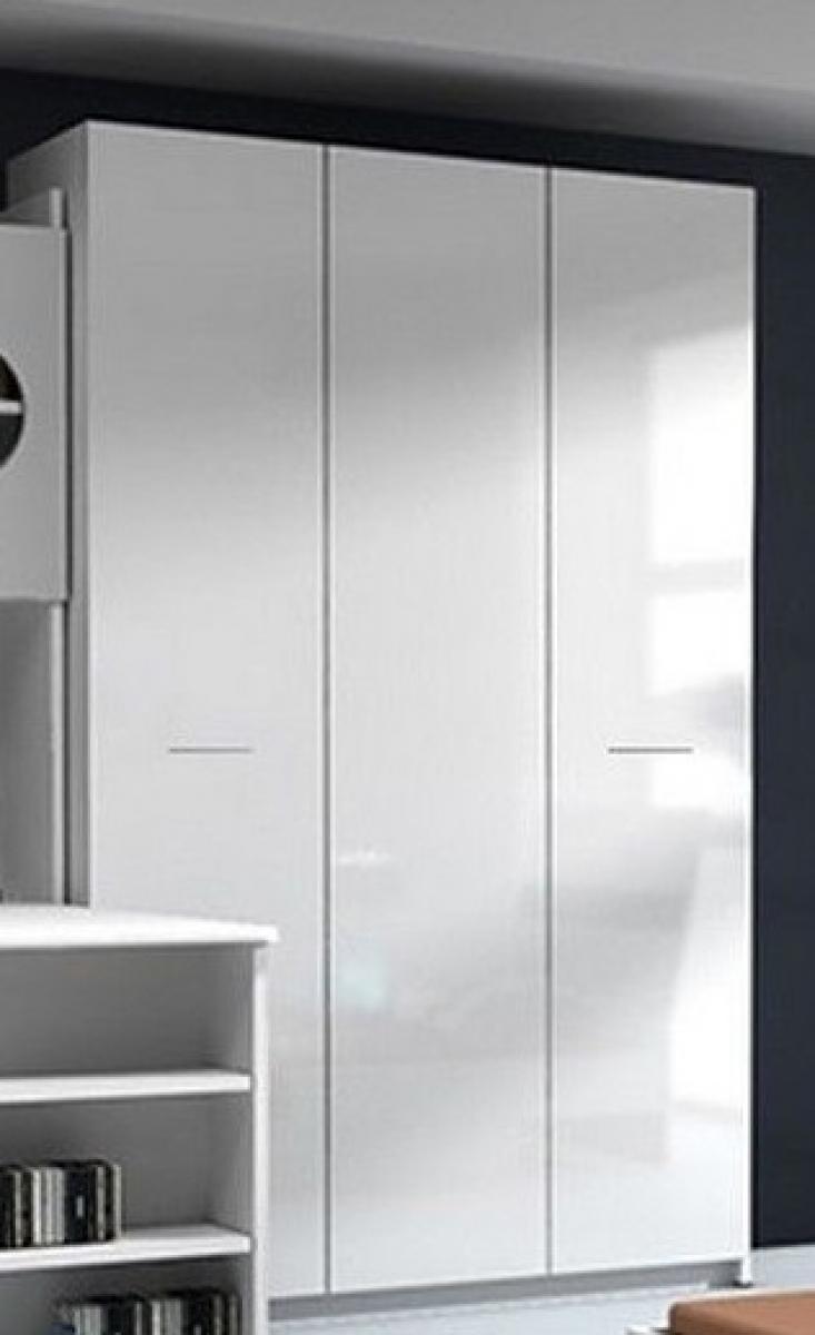 KAUFEXPERT - Kleiderschrank Paradise 1 Weiß Hochglanz mit ...