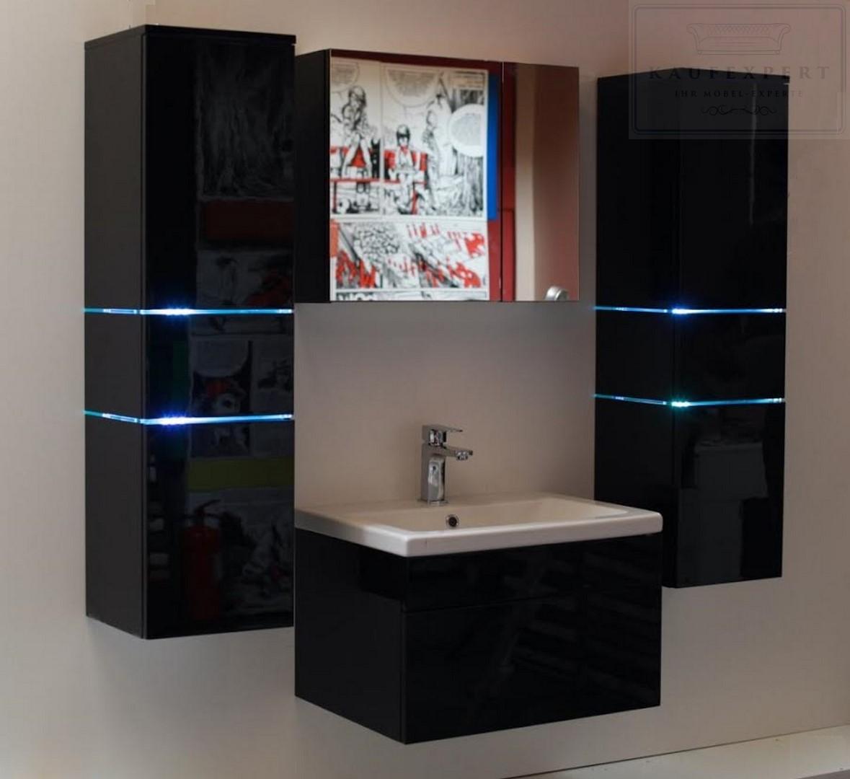 kaufexpert badm bel set prestige lichtgr n hochglanz lackiert keramik waschbecken badezimmer. Black Bedroom Furniture Sets. Home Design Ideas
