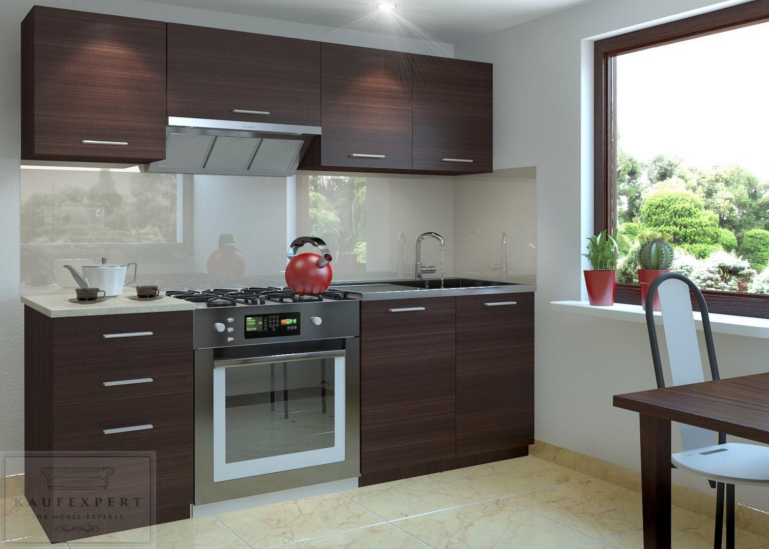 KAUFEXPERT - Küchenzeile Moderno E Wenge 180 cm Küche Küchenblock ...