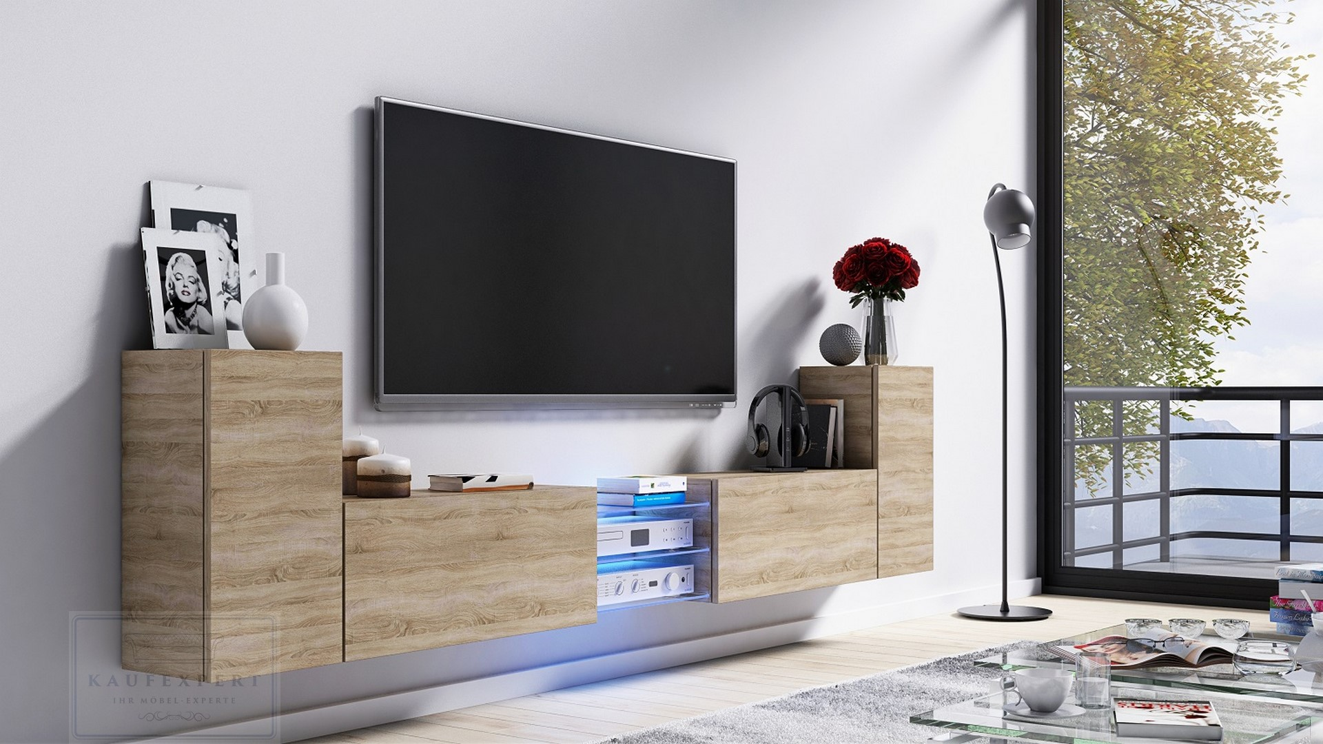 Kaufexpert Tv Lowboard Galaxy Sonoma Eiche Mdf Design Board Hifi