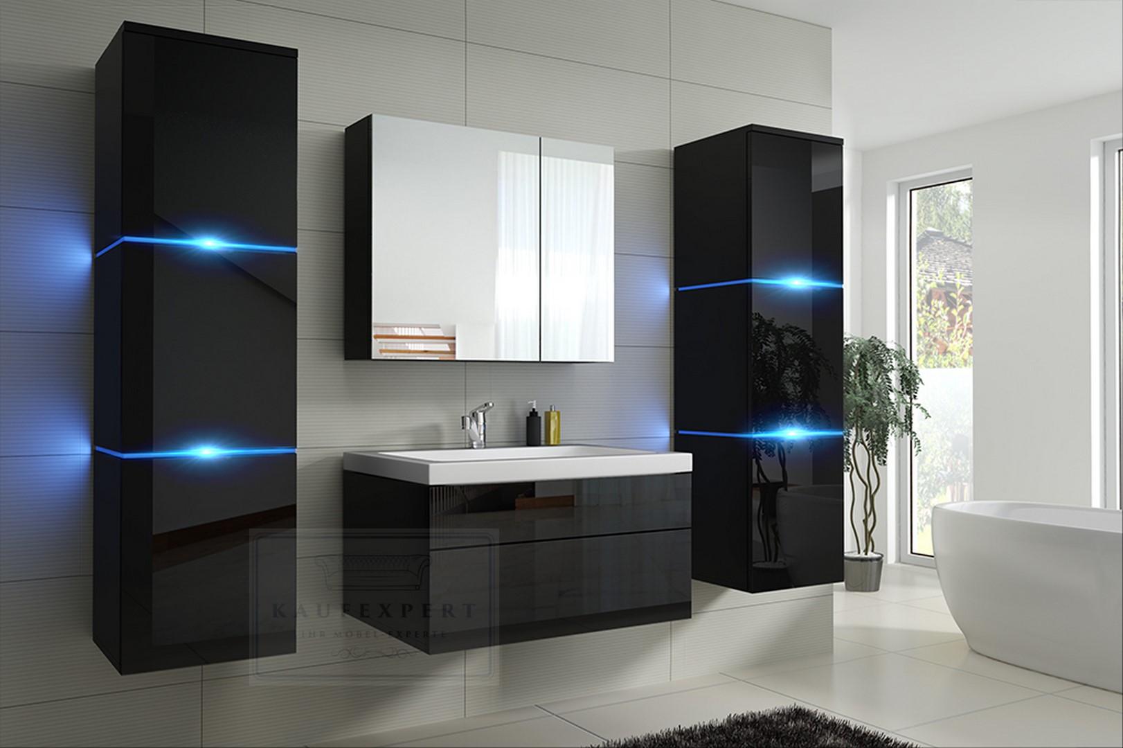 Badezimmer Set Schwarz