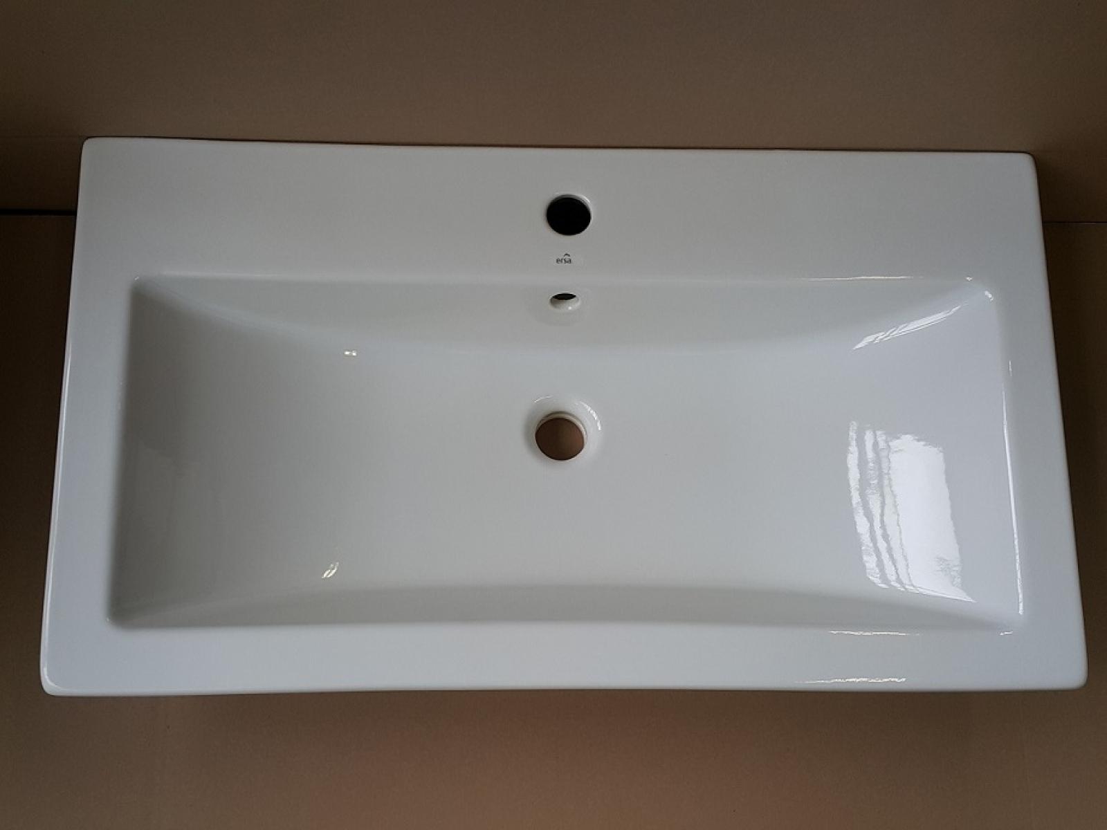 Badmöbel Set Werner XXL 1 Rot Hochglanz/ Schwarz KERAMIK Waschbecken  Badezimmer Led Beleuchtung Badezimmermöbel Keramikbecken Spiegelschrank